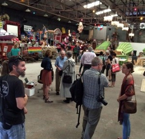 Krewe du Vieux warehouse, where Slow Fish 2016 attendees got an eyeful in New Orleans.